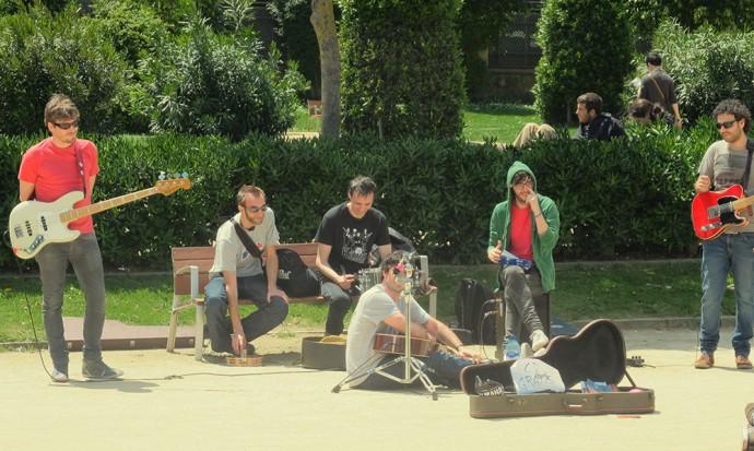 Buskers in Parc Ciutadella
