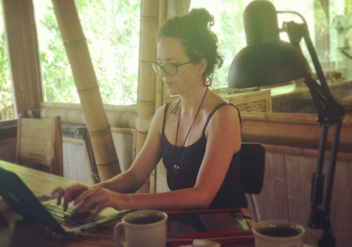 Victoria working at Hubud