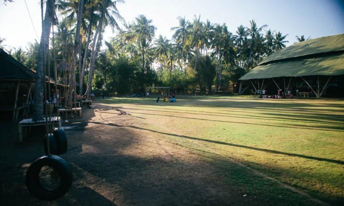 green school field bali