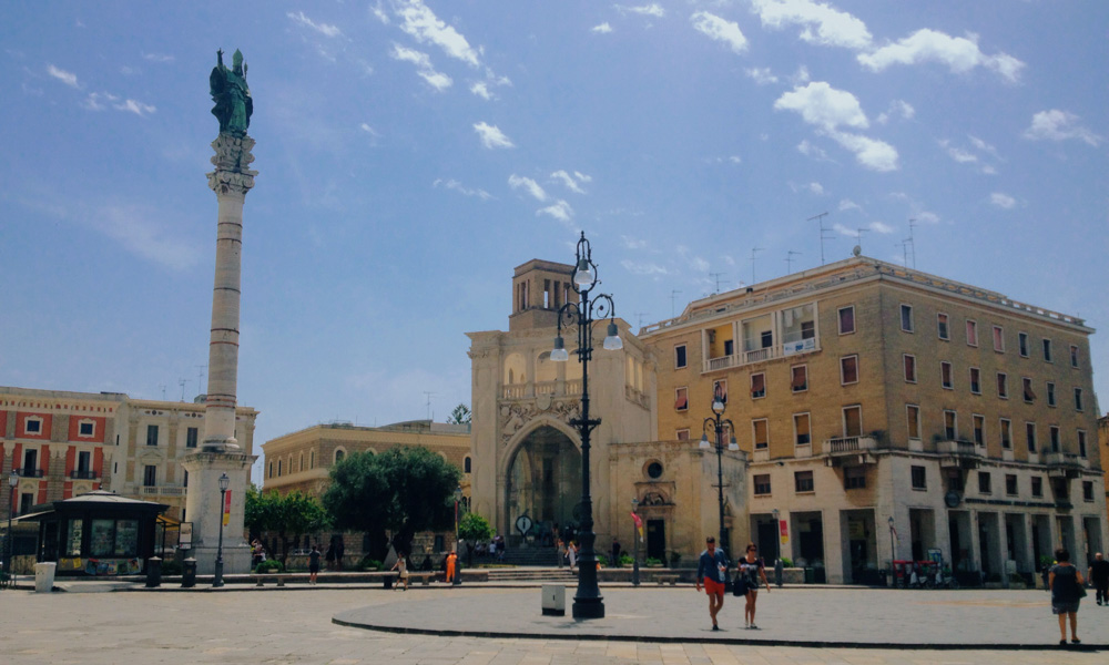 Town plaza in Lecce