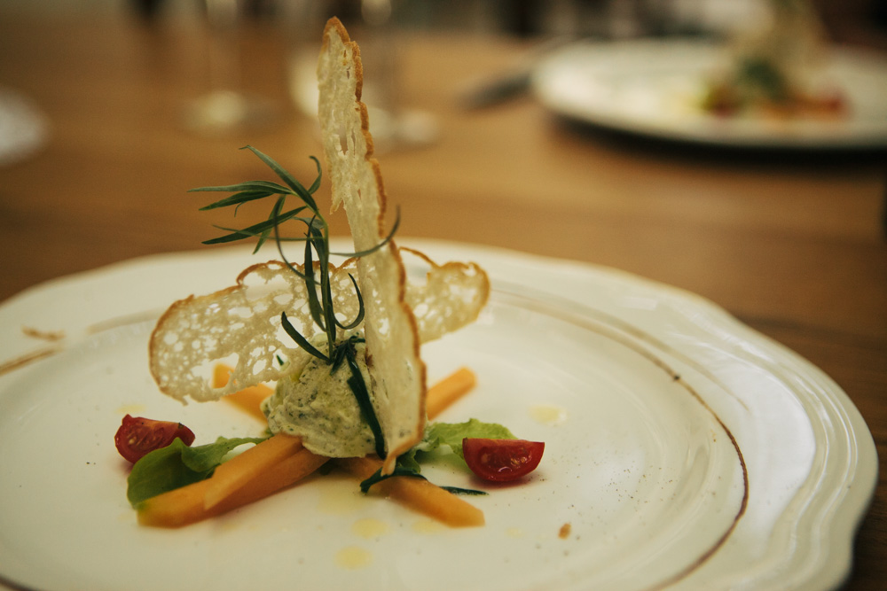 Starter at Majerija – one of the best vegetarian restaurants s in Slovenia