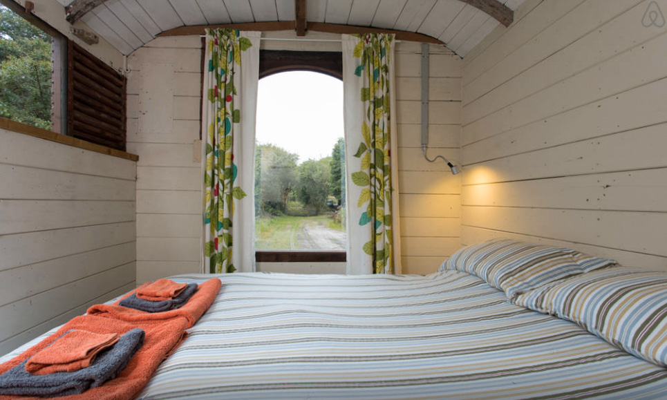 Stay in a converted train carriage in Cornwall