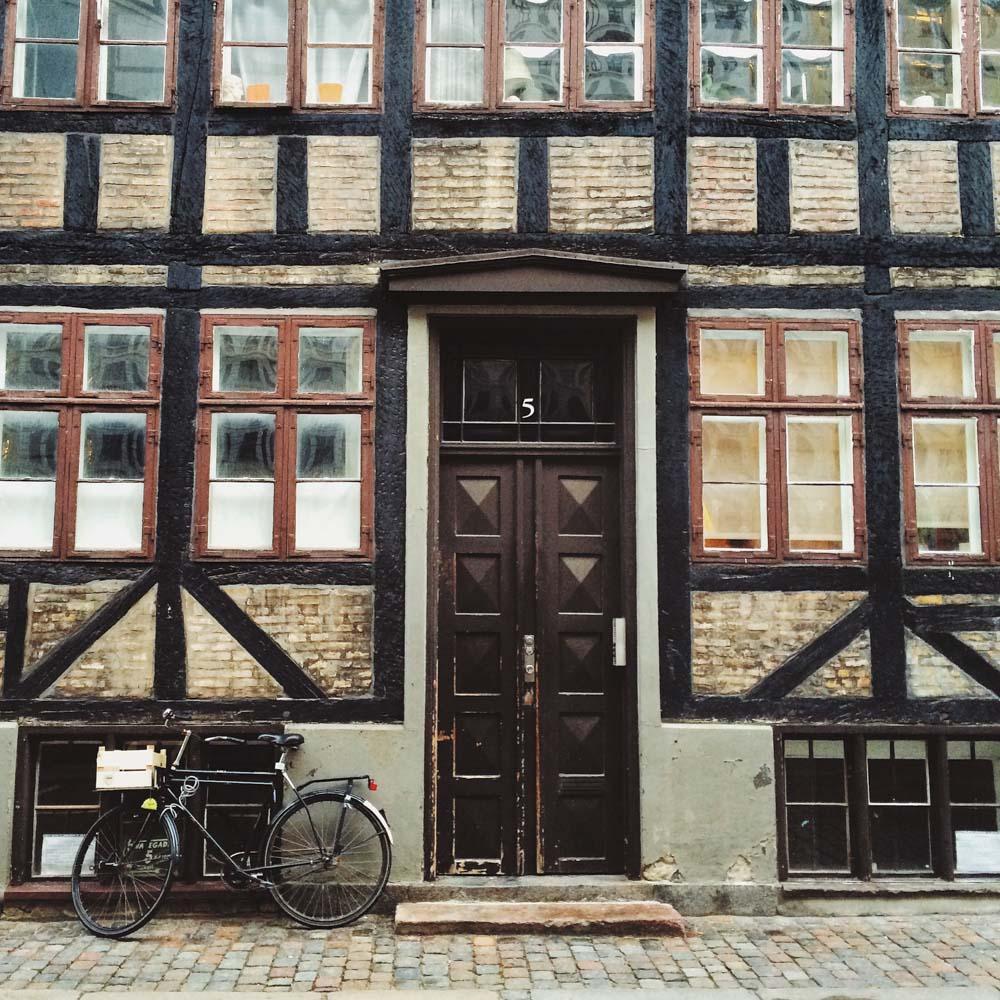 Copenhagen street and bike