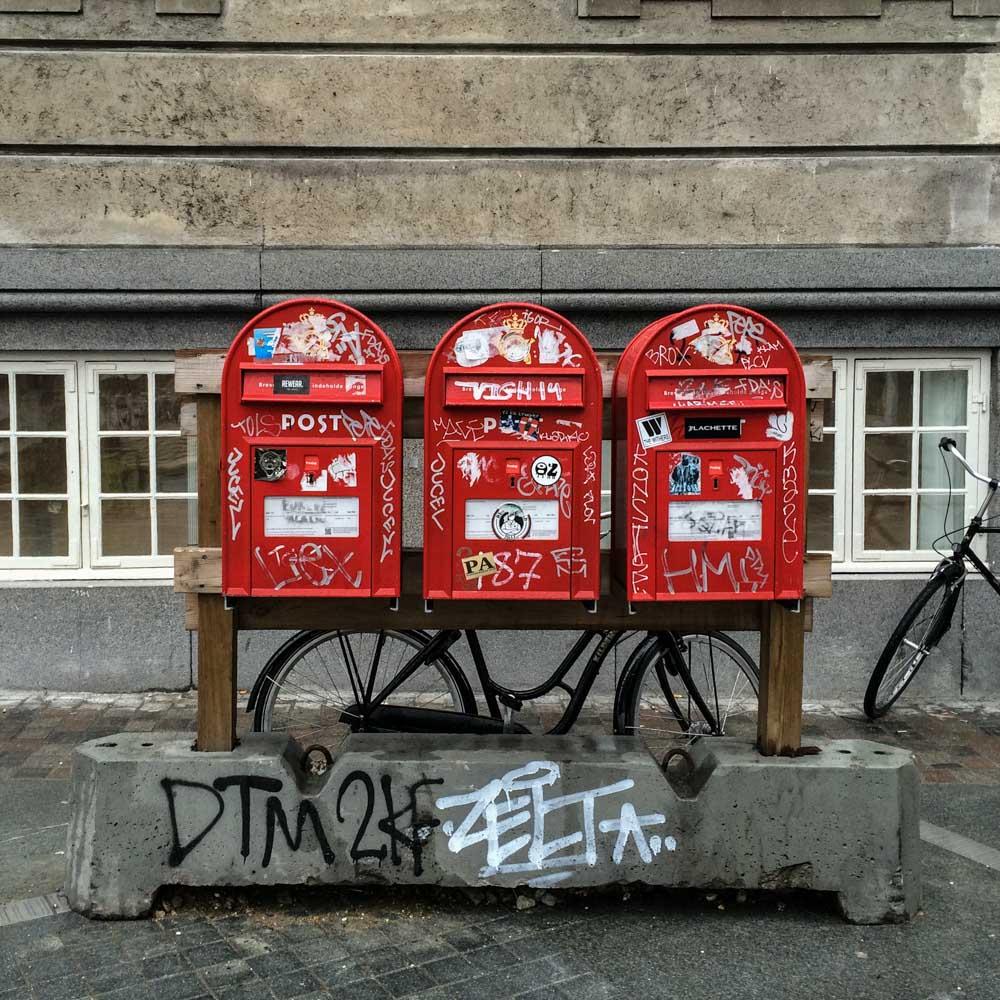 Postboxes in Copenhagen