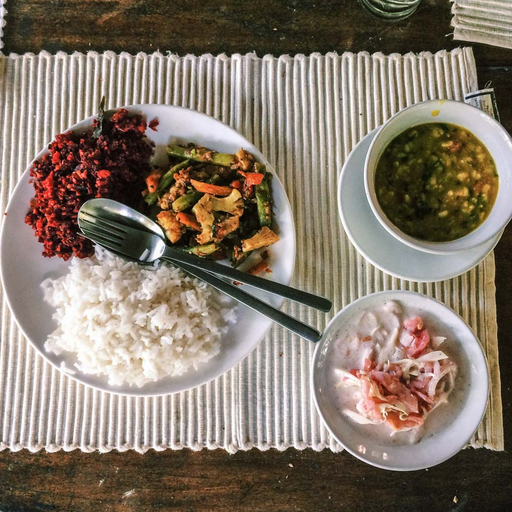 Ayurvedic food at Eden Garden, Varkala