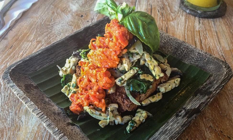 Raw vegetarian food at Kafe, Ubud, one of Ubud's best veggie restaurants