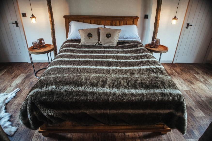 Romantic bed at North Star Club, Sancton