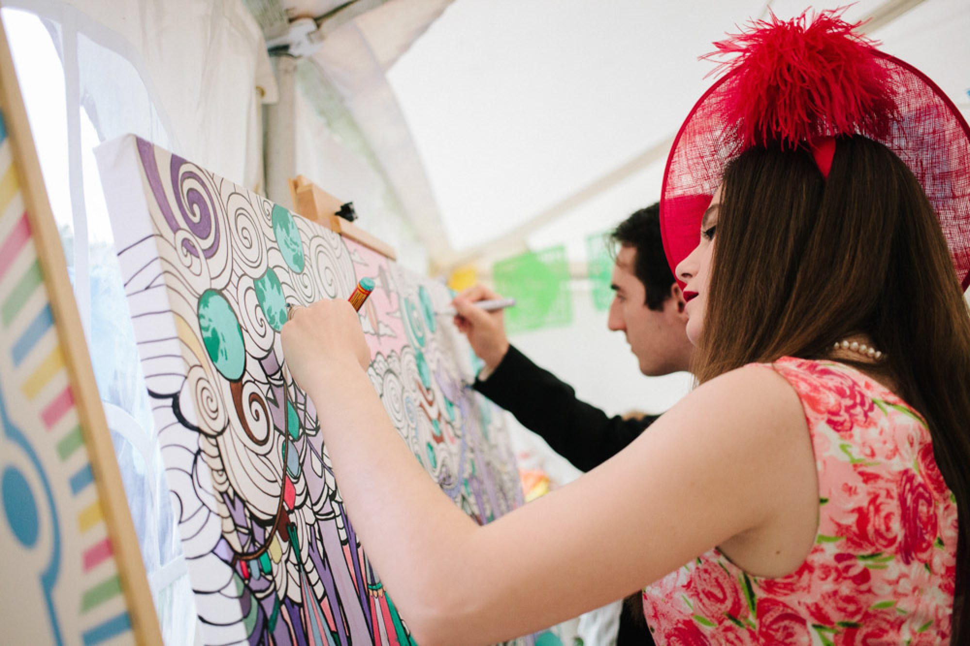 Fancy Features giant colouring in wedding
