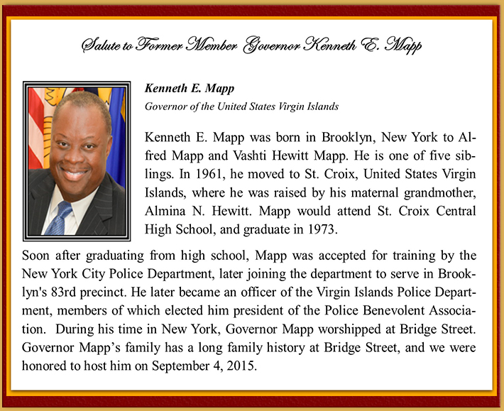 Members Milestones - Kenneth Mapp