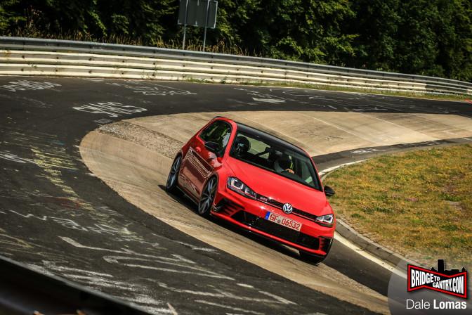VW GTI Clubsport prototype on the Nurburgring