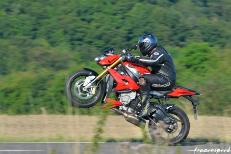 Testing the anti-wheelie feature of the S1000R