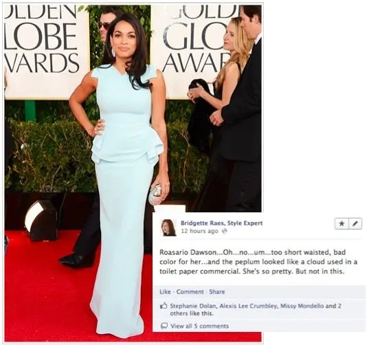 Rosario Dawson 2013 Golden Globes Fashion