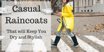 casual raincoats