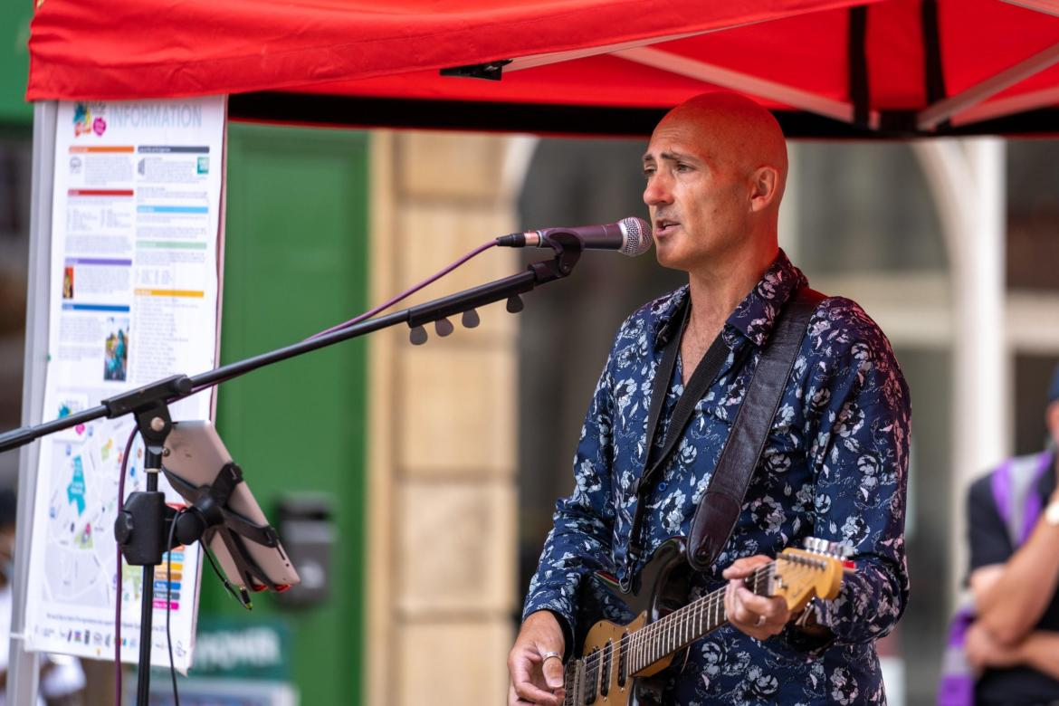 Bridgwater Mercury: PERFORMERS: Crowds were entertained at the Bridgwater Quayside Festival's Picnic in the Park event