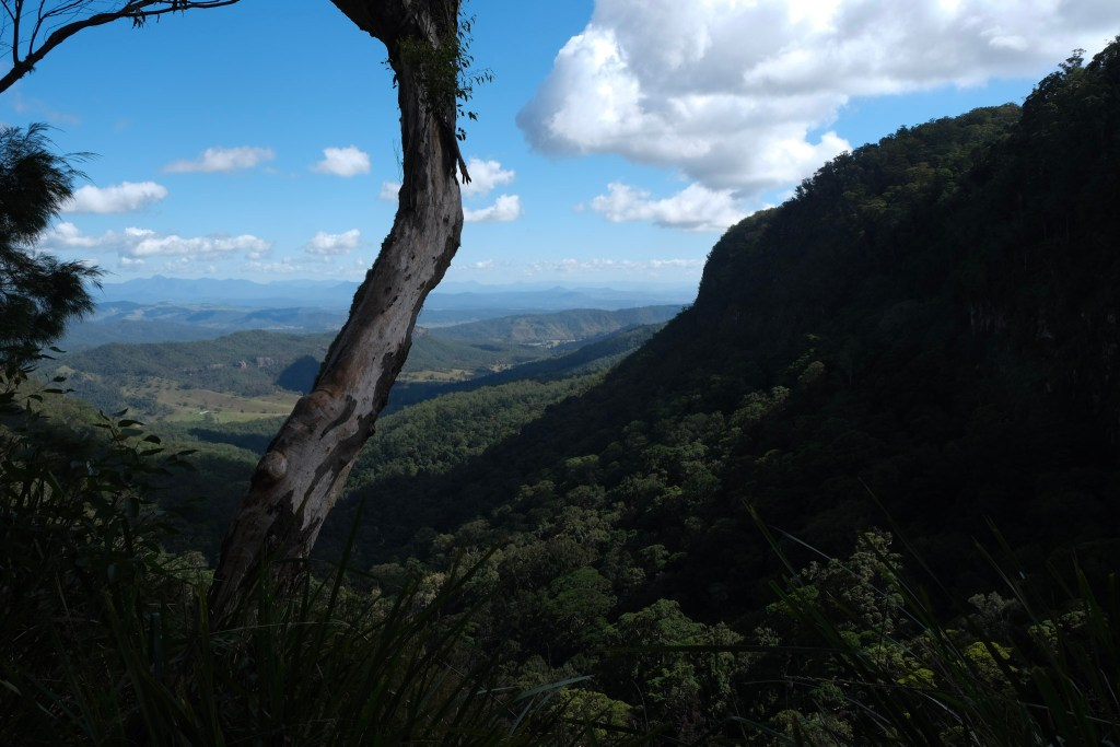 View from above Moran's Falls, Lamington National Park. O'Reilly's Campground - minimalist travel and packing guide.