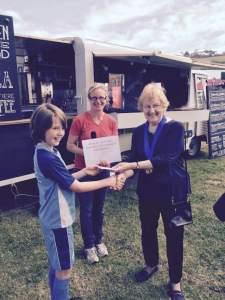 winner of pot challenge Blake Ford with Mayor of Bridport