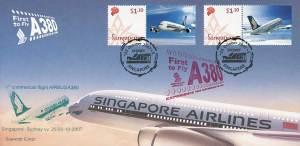 Ein Airbus A 380 der Singapore Airlines.