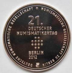 Medaille zum 21. Deutschen Numismatikertag in Berlin 2012.
