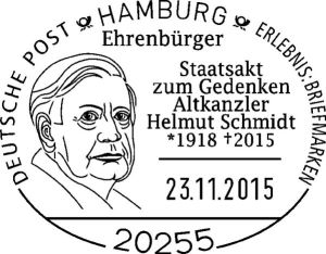 Helmut Schmidt Sonderstempel zum Staatsakt