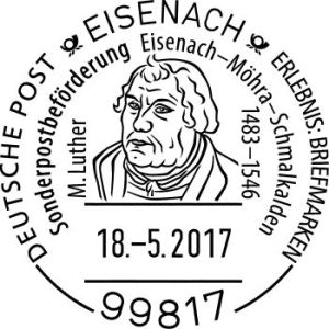 Sonderstempel Eisenach Luther