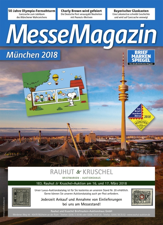 Messe Magazin Muenchen 2018 Internationale Briefmarken Boerse