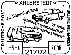 Thema Monat Briefmarken Spiegel Auto Wartburg Audi Klassiker Oldtimer Stempel BRD DDR Museum (10)