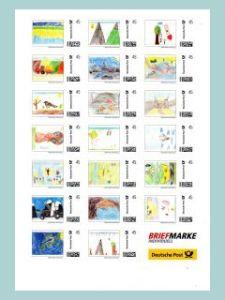 Marken Individuell mit Kinderbildern aus dem Malwettbewerb