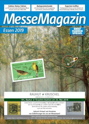 Messe Magazin Essen 2019 Europa Briefmarke Vogel