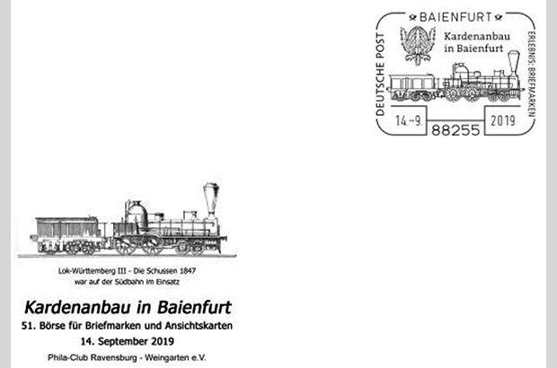 Kardentransport mit Eisenbahn