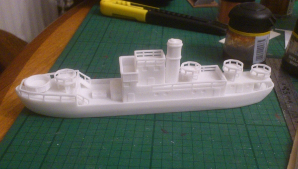 Unpainted Vorpostenboot