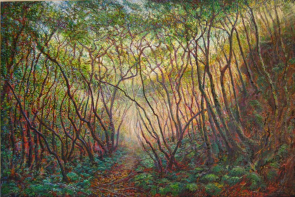 Katoomba Falls Track 2 (2nd) oil on canvas 2011 152x102cm