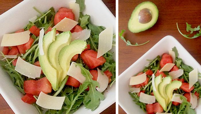 Watermelon, Arugula, Parmesan & Chicken Salad Recipe