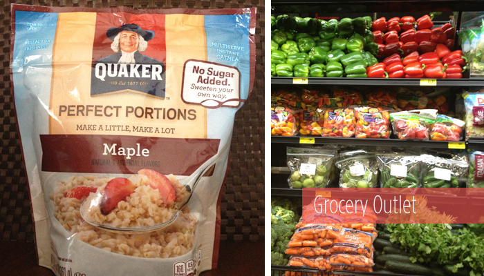 produce and oats from Grocery Outlet