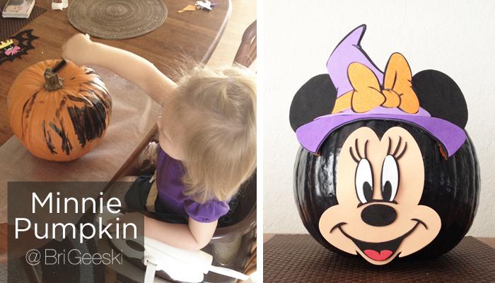 minnie mouse pumpkin decorating
