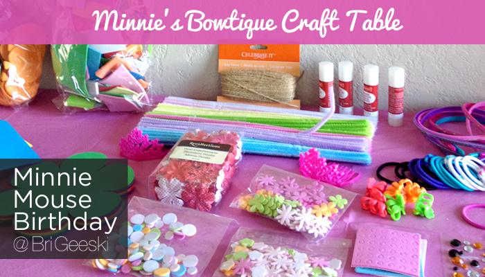 Minnie's Bowtique Craft Table #minnie #disney #minniesbowtique