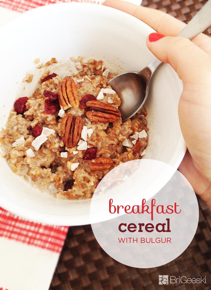 Cranberry Coconut Breakfast Cereal Recipe with Bulgur
