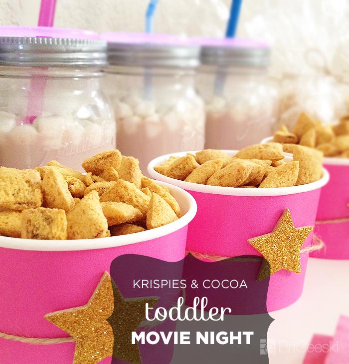 Krispies & Cocoa Toddler Movie Night Snacks