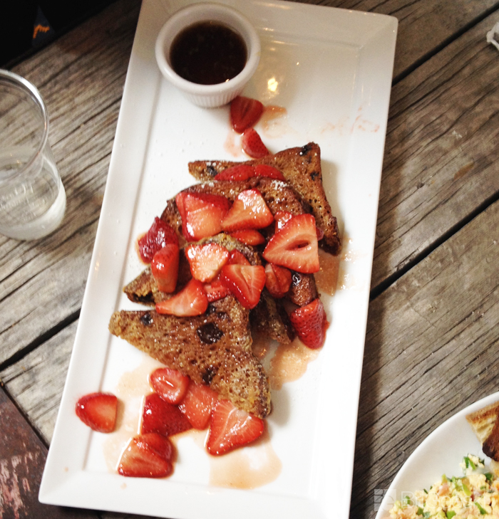 strawberry gluten free french toast from Cafe Cantata