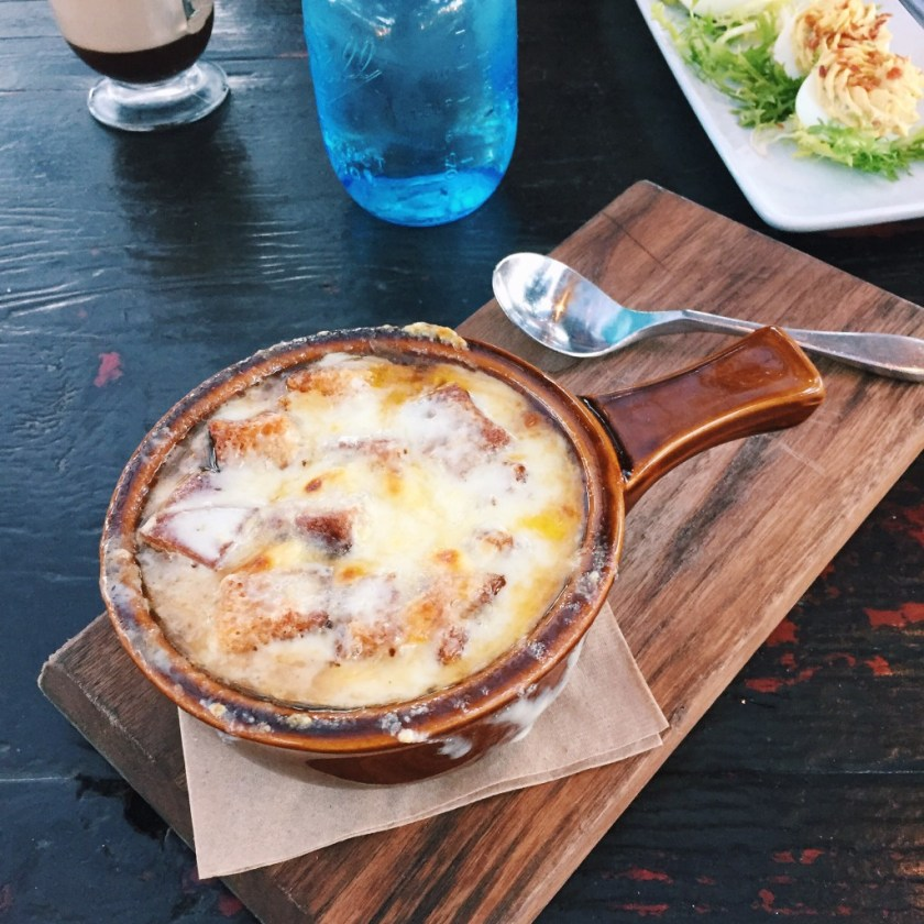 The french onion soup