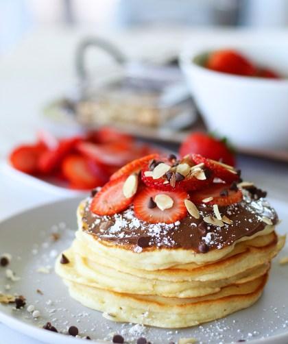 strawberry chocolate pancakes