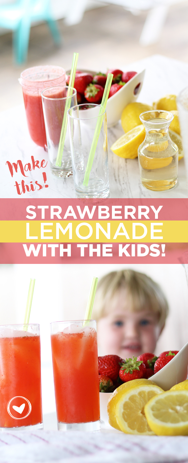 Make this! strawberry lemonade with the kids