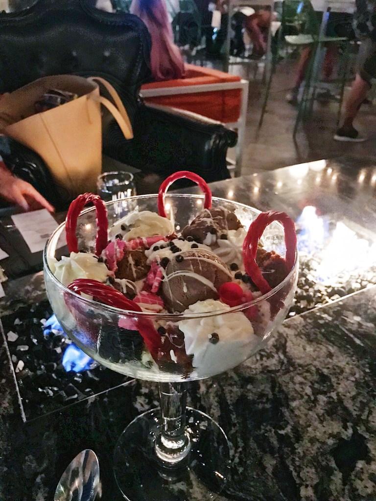 Big birthday dessert at Rustic Root in San Diego