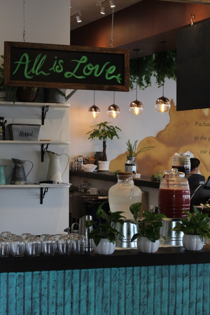 Drink station at Pachamama