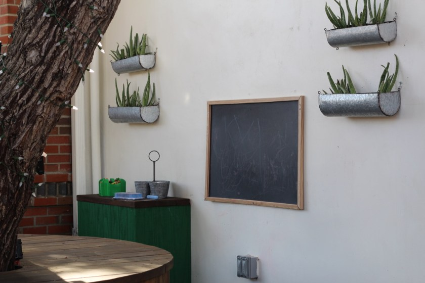 Chalkboard and Kids Space in San Diego Restaurant