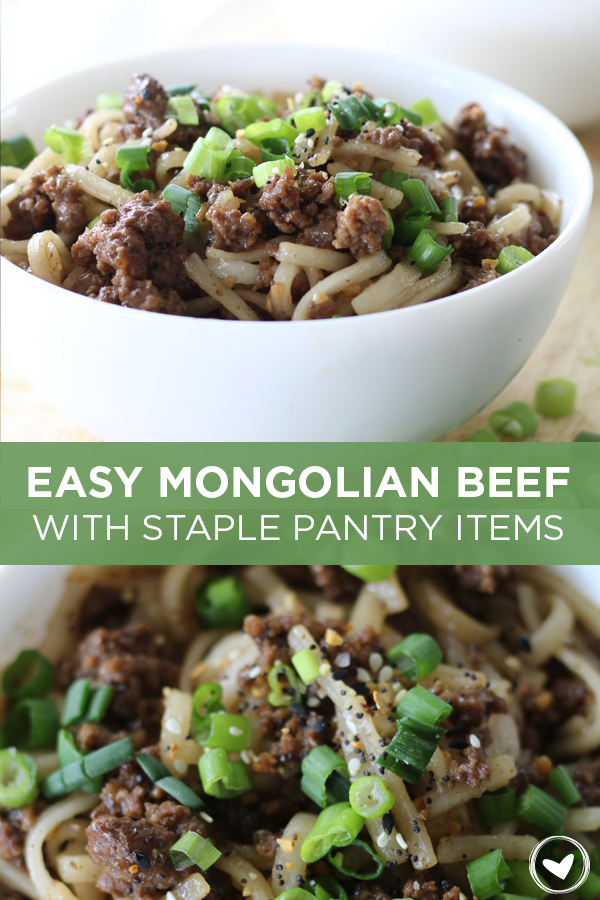 Easy Mongolian Beef Recipe with Staple Pantry Items