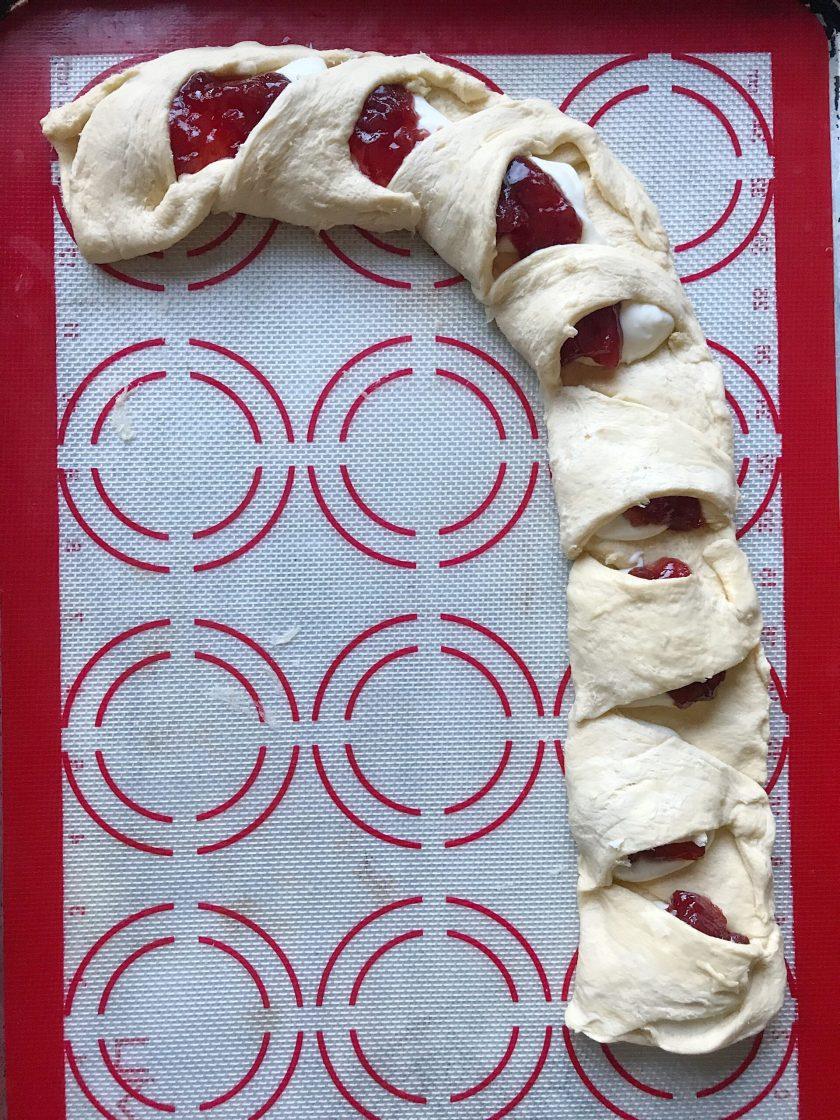 Cream Cheese and Strawberry Danish