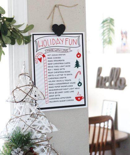 Holiday Fun List