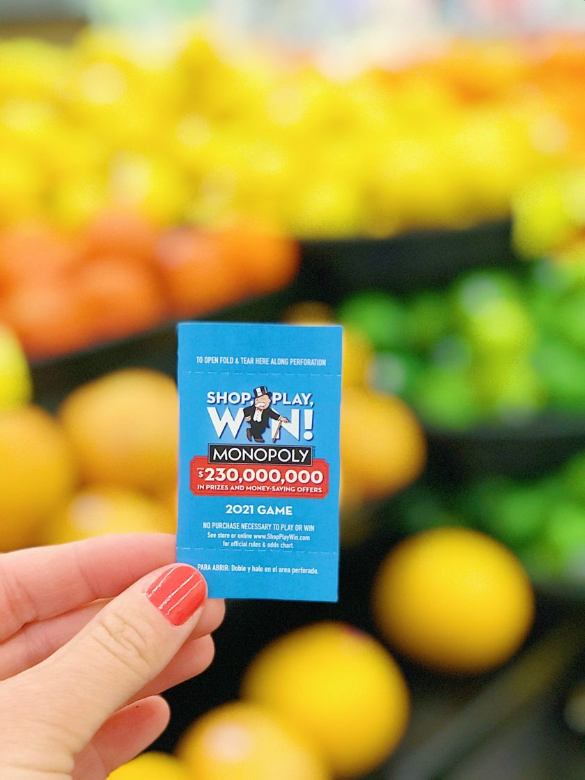 Shop Play Win Monopoly at Vons