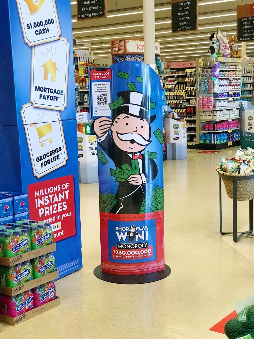 Play Monopoly at Vons to win prizes