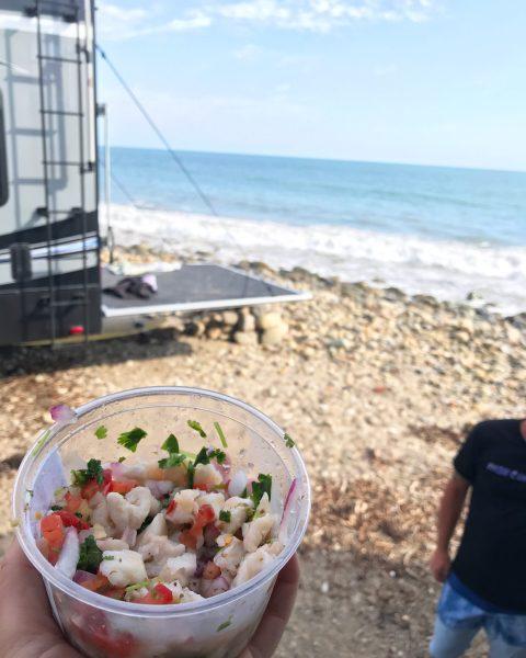 Ceviche on the beach